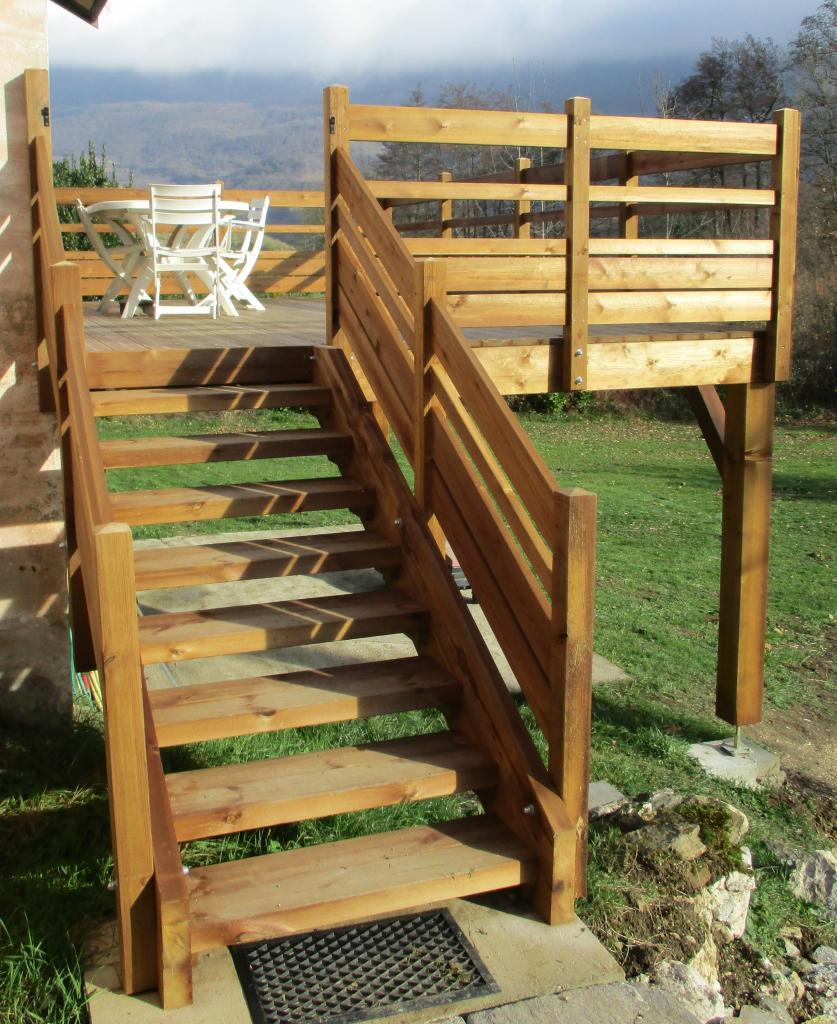 Balcon ext rieur en bois autoclave - Balcon en bois ...