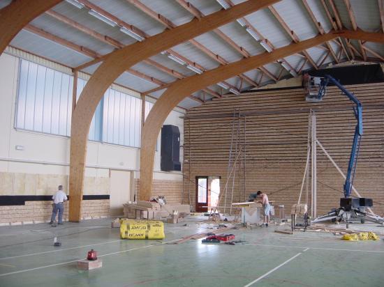 Rénovation d'un gymnase à Yenne (73)