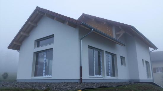 Maison à ossature bois avec menuiserie PVC