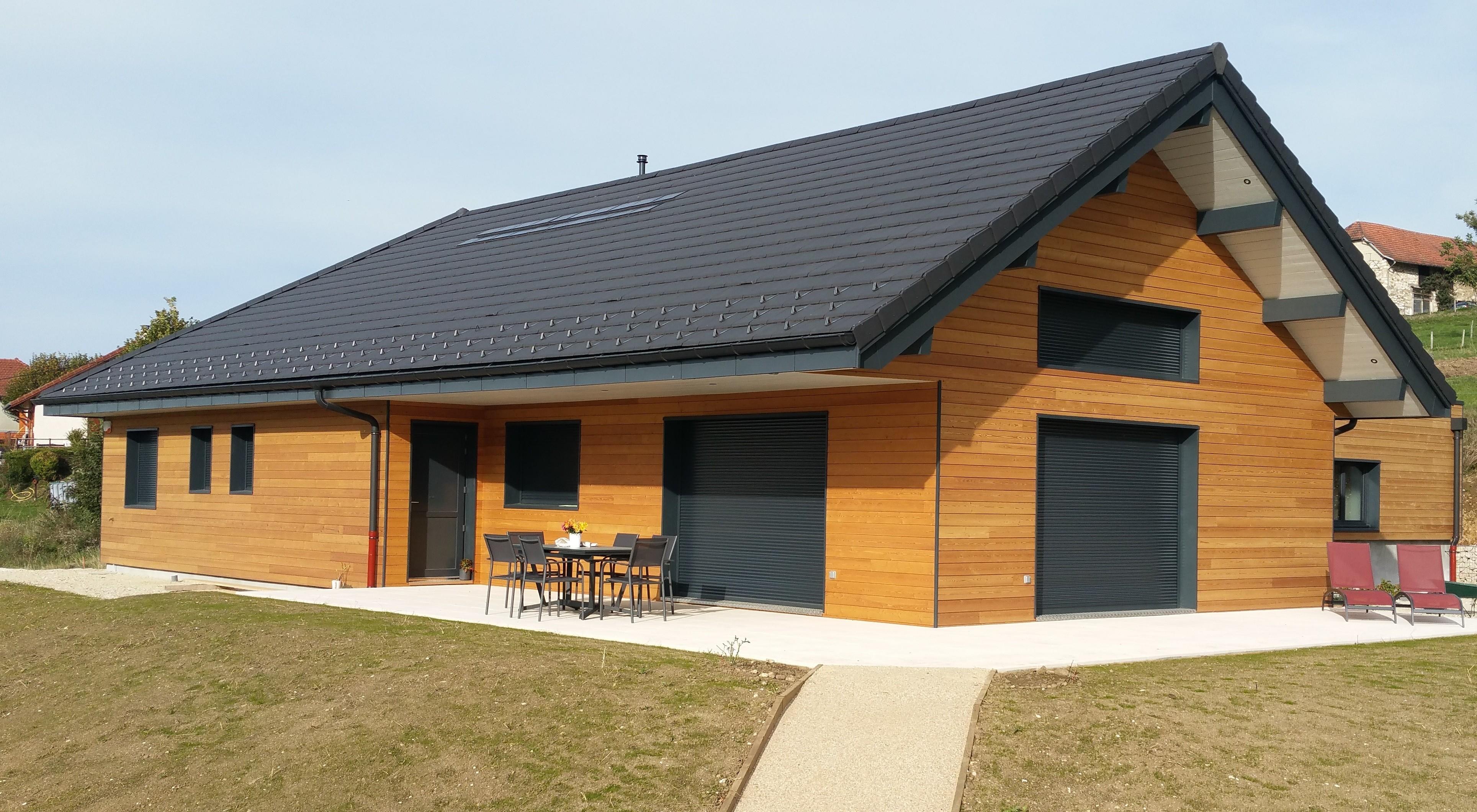 Maison à ossature bois à Meyrieux-Trouet en Savoie (73)