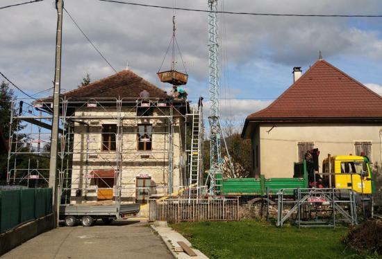 Réfection de toiture à Ameysin sur la commune de Yenne