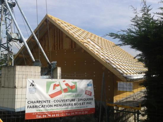 Surélévation d'une maison à Massignieu-de-Rives (2)