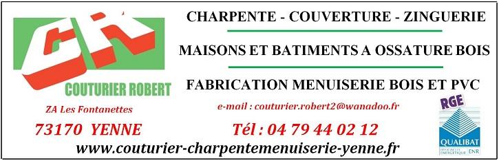 SARL COUTURIER ROBERT Charpente-Couverture-Menuiserie Bois et PVC à Yenne (73)