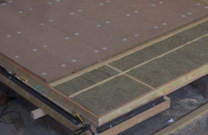 Laine de roche + isolant fibre de bois