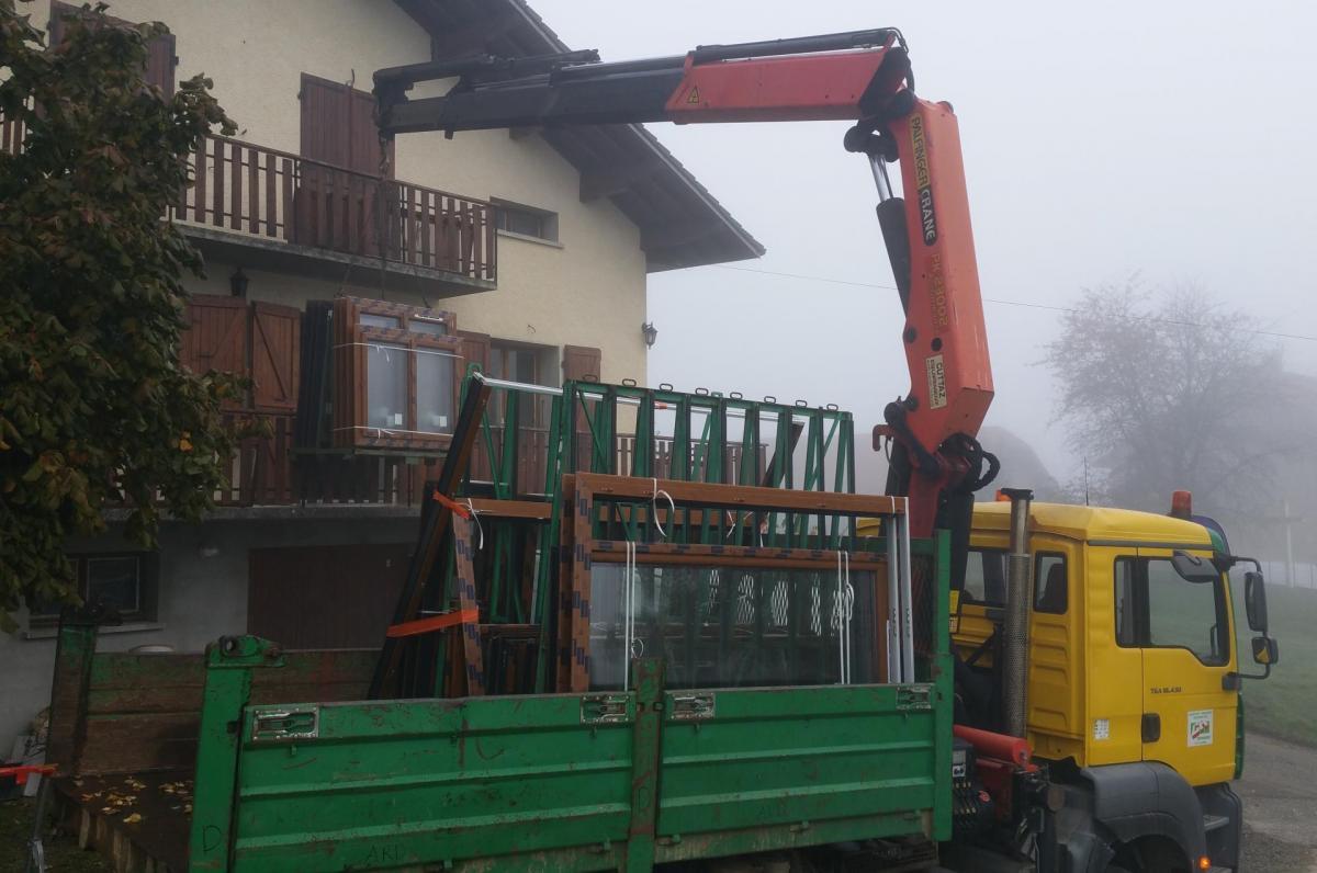 Changement fenêtres et porte-fenêtres en PVC à Yenne Savoie 73