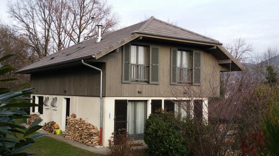 Surélévation d'une habitation avec parois à ossature bois à Tresserve (73)