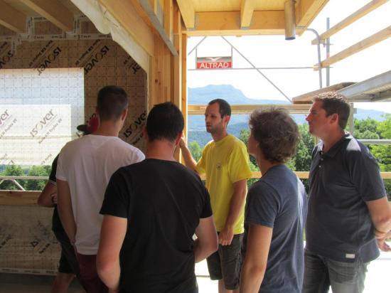 Visite chantier BTS SCBH Cormaranche-en-Bugey